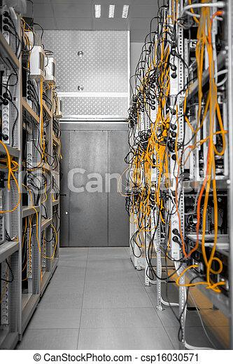 Modern computer cases in a data center - csp16030571
