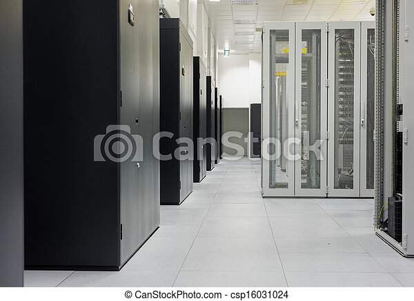 Clean industrial interior of a server room - csp16031024