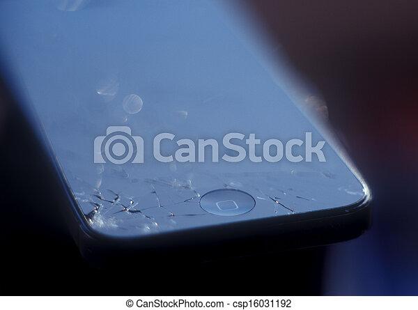 Broken mobile device.
