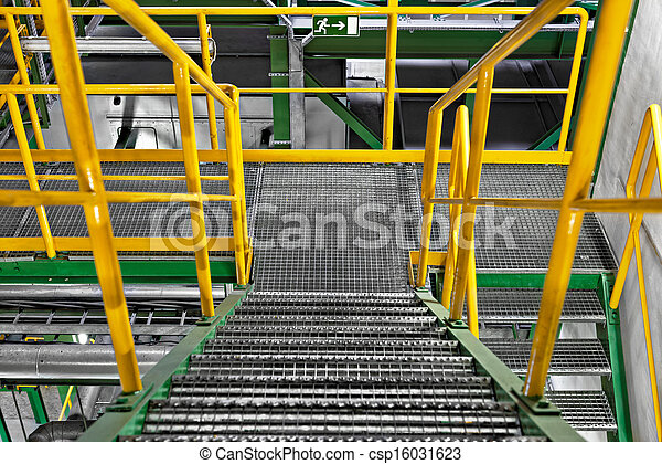 Industrial Interior with large staircase - csp16031623