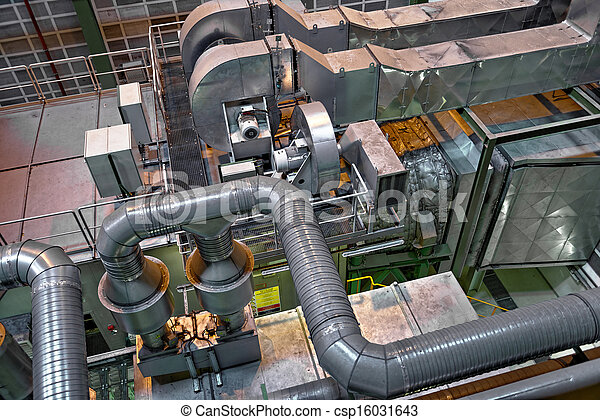 Large industrial interior with power generator - csp16031643