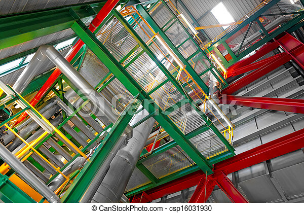 Industrial interior of a power plant - csp16031930
