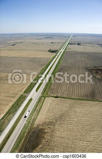 Highway in rural USA. - csp1603436