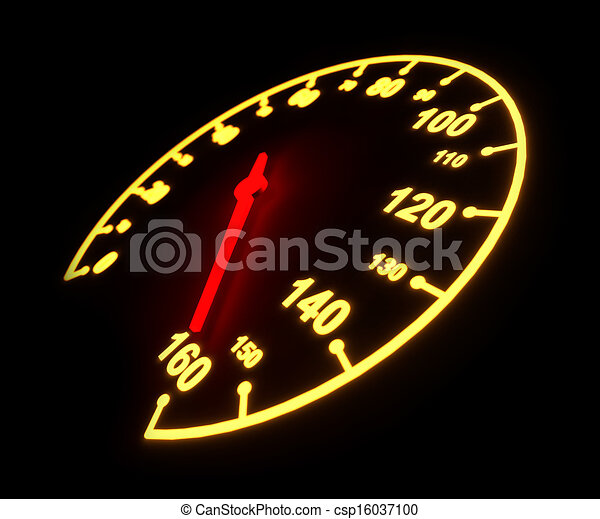 Glowing light automobile speedometer dial - csp16037100