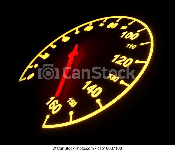 Glowing light automobile speedometer dial - csp16037100