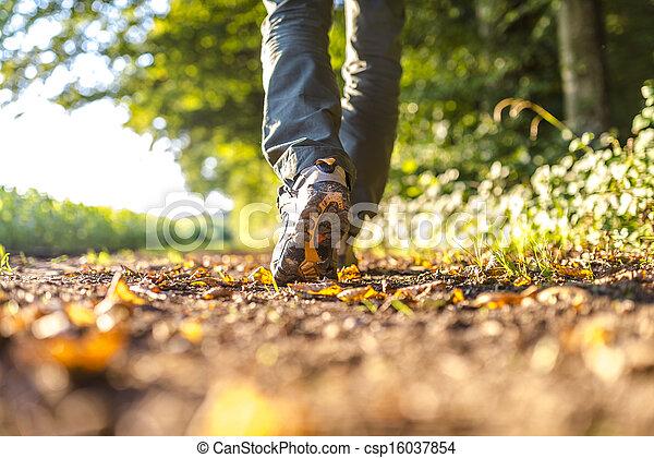 Detail of man hiking - csp16037854
