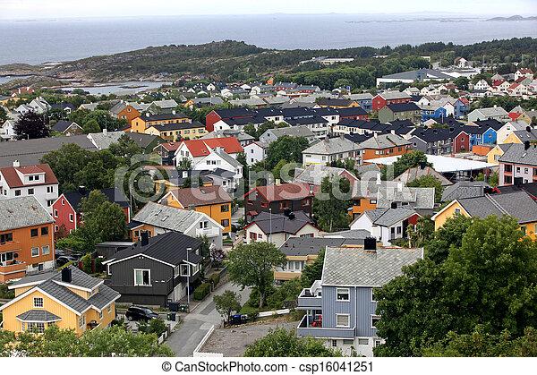 Kristiansund, small town in Norway