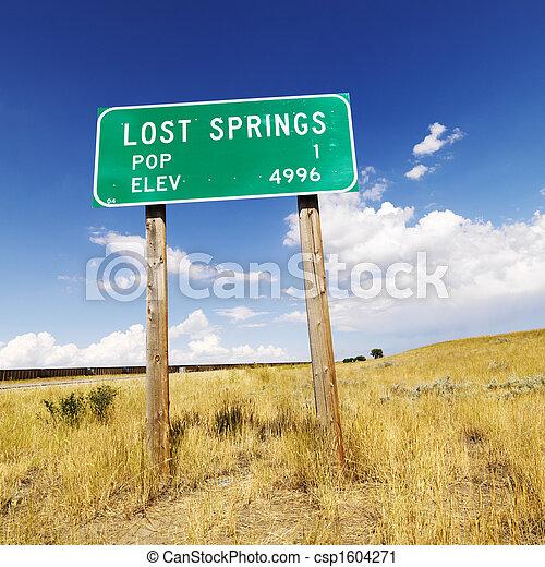 segno,  Wyoming, strada - csp1604271
