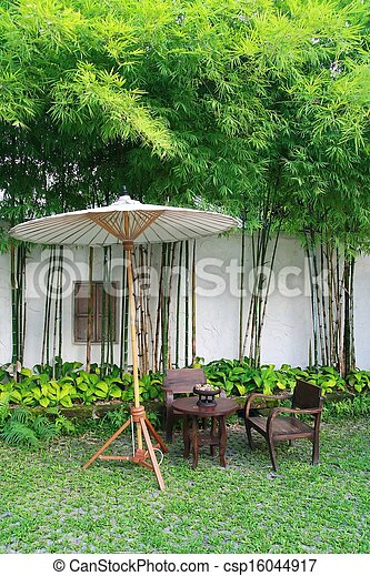 Photographies de jardin ensemble parapluie mai chiang - Parapluie de jardin ...