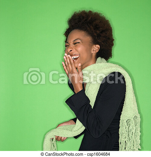 Laughing woman - csp1604684