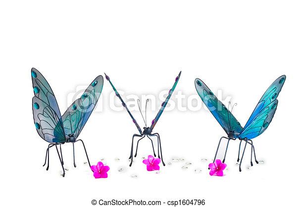 Butterflies Gathering Around - csp1604796