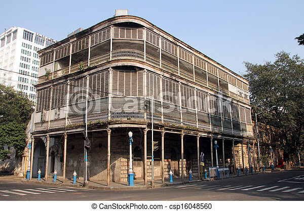 Corner of Government Place and Wellesley Place, Kolkata - csp16048560