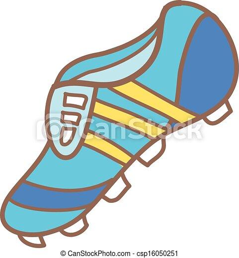 Clipart Vector of A football boot csp16050251 - Search Clip Art ...