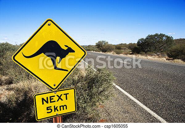 Road sign Australia - csp1605055