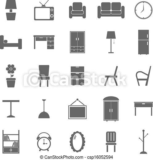 Eps vectores de blanco muebles plano de fondo iconos for Dibujos de muebles para planos arquitectonicos