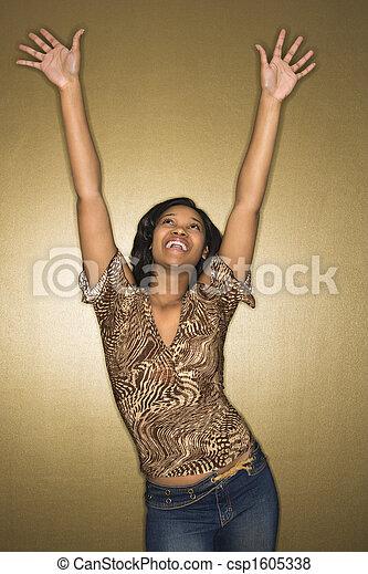Joyous young woman. - csp1605338