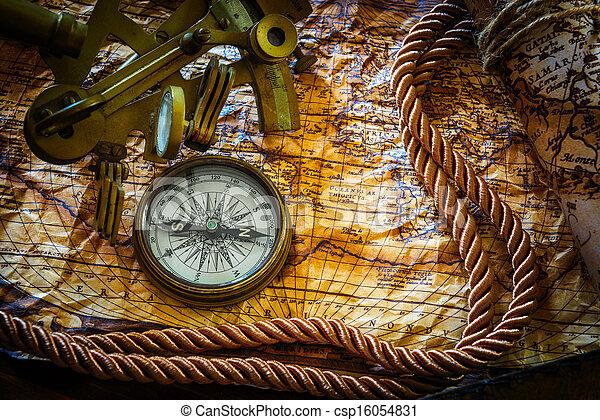 vintage marine still life - csp16054831