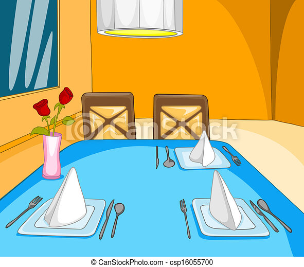 clipart vecteur de restaurant salle dessin anim fond. Black Bedroom Furniture Sets. Home Design Ideas