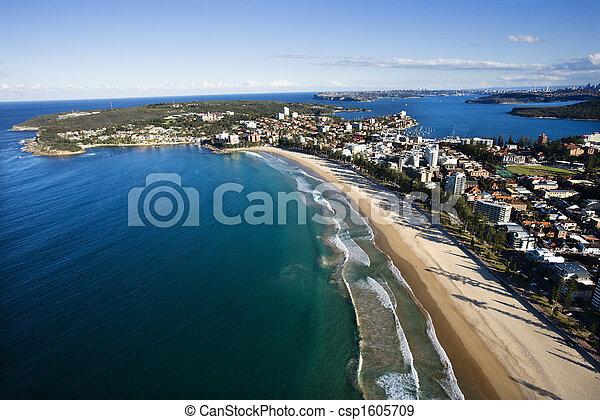 特性, 海岸, 航空写真 - csp1605709