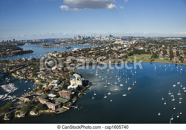 オーストラリア, シドニー, aerial. - csp1605740
