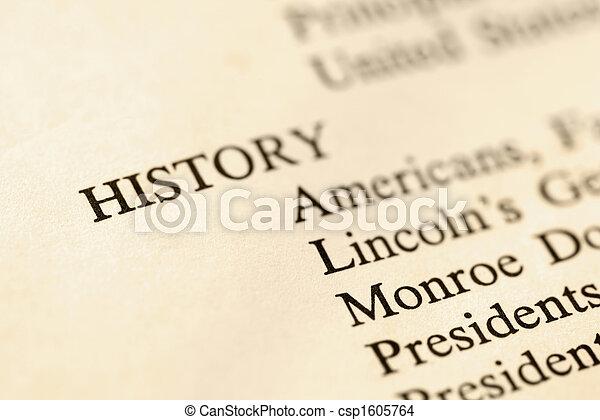 HIstory book page. - csp1605764