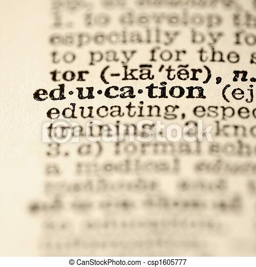 bildung, Eintrag, Wörterbuch - csp1605777
