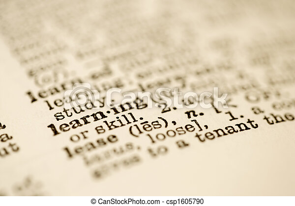 Dictionary entry for learning. - csp1605790