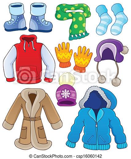 Winter clothes collection 3 - csp16060142