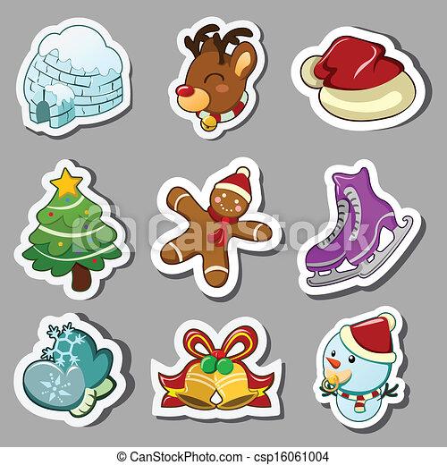 Winter icons - csp16061004
