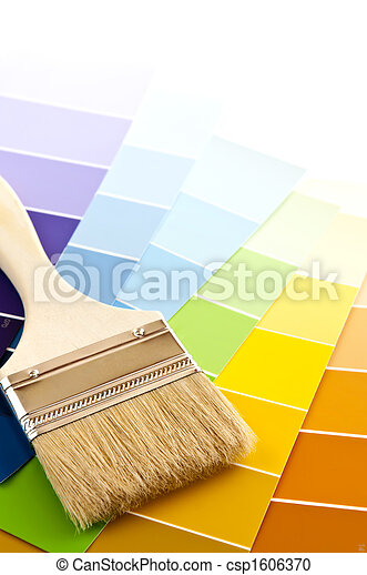 Paint brush with color cards - csp1606370