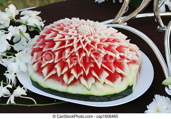 Images de d coration past que d coup carved past que for Decoupe fruit decoration