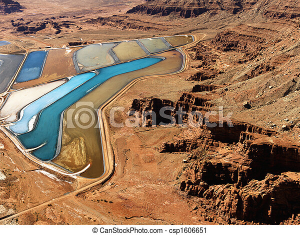 Tailings pond in rural Utah. - csp1606651