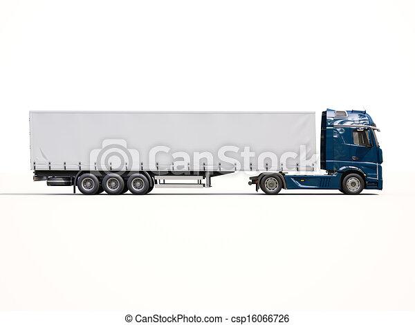 Semi Truck Flatbed Trailer Clipart Semi Trailer Truck Clip Art