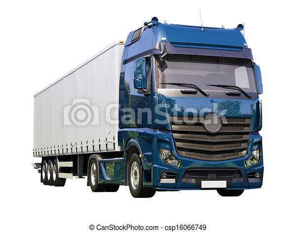 Dessin de semi remorque camion isol a moderne semi - Dessin de camion semi remorque ...