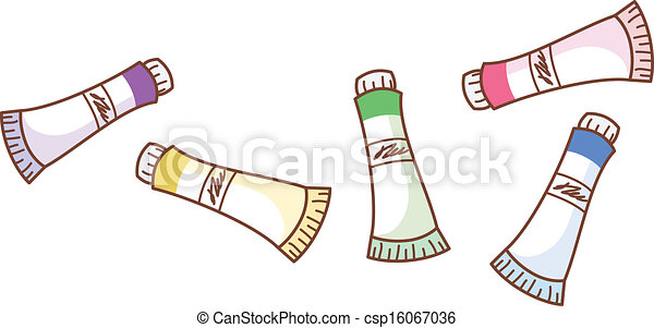 Paint Tube Vector EPS - Instant Download - csp16067036