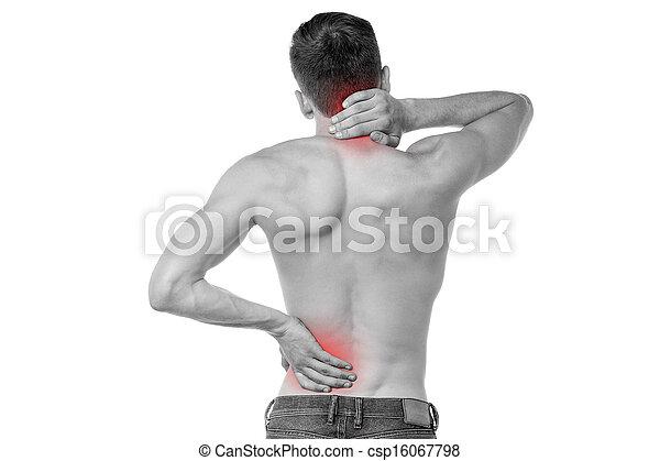 Sports injury pain towards back - csp16067798