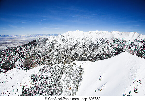 colorado, 山, 風景, 雪が多い - csp1606782