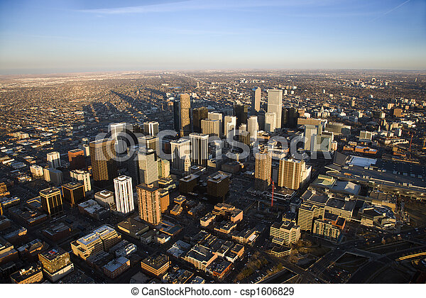 Cityscape of Denver, Colorado, USA. - csp1606829