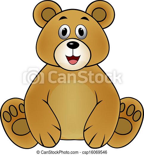EPS vector de marrón, oso, caricatura csp16069546 - Buscar Clipart ...