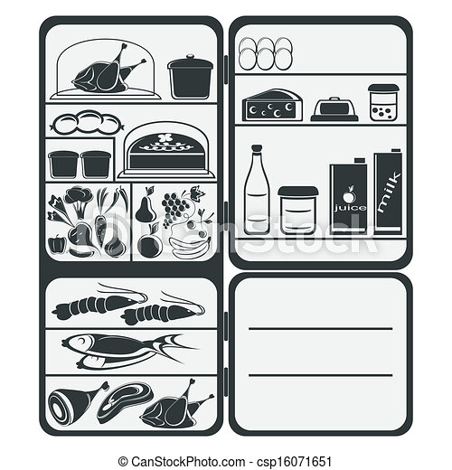 Clipart Vector of Refrigerator - The refrigerator with ...