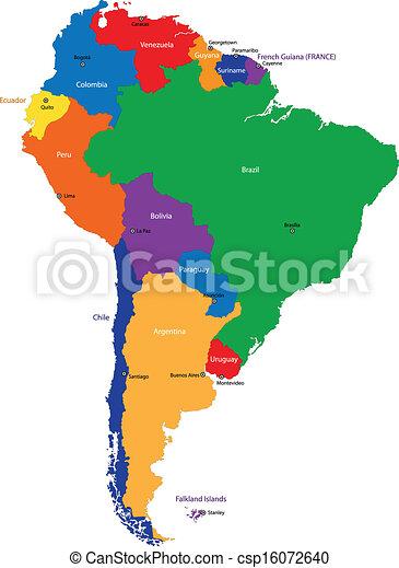 South America map - csp16072640