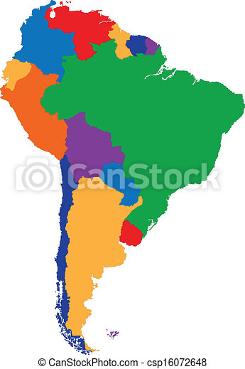 Colorful South America map - csp16072648