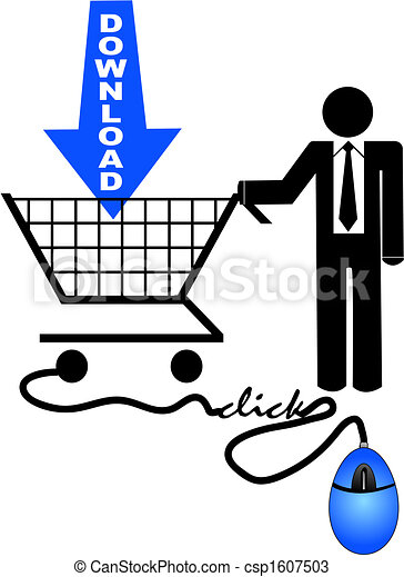 shopping for downloads - csp1607503
