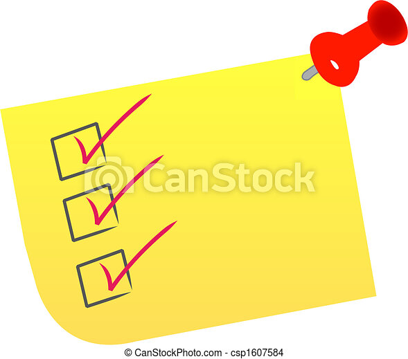 check list on note - csp1607584