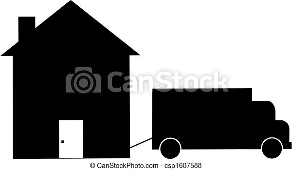 home foreclosure or moving - csp1607588