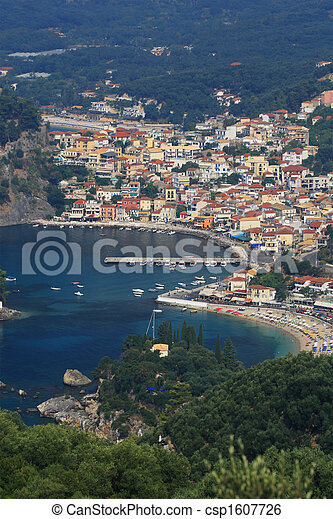 Aerial view on Parga Greece - csp1607726