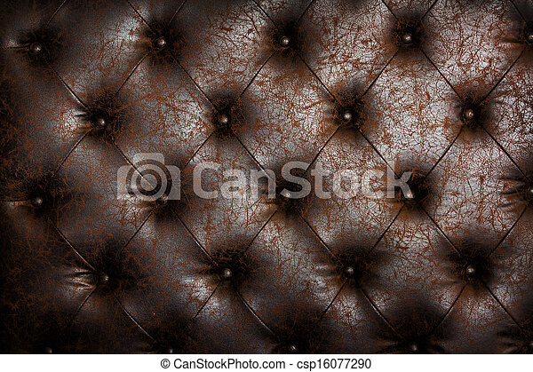 Luxury brown leather close-up background with great detail for background, check my port for a seamless version - csp16077290