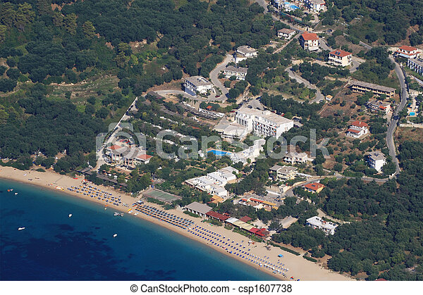 Aerial view on Parga Greece - csp1607738