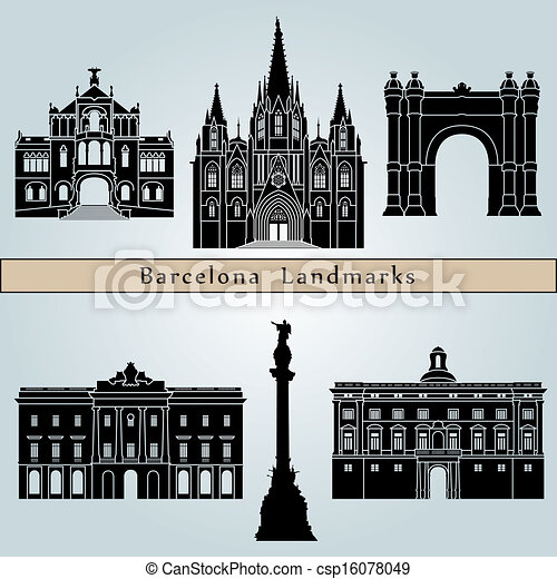 Barcelona landmarks and monuments - csp16078049