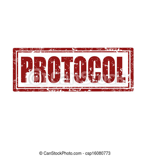 Vectors Illustration of Protocol-stamp - Grunge rubber ...